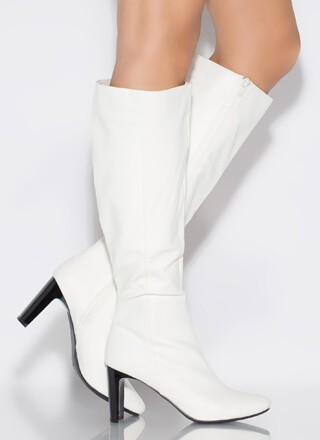 Just Right Faux Leather Knee-High Boots