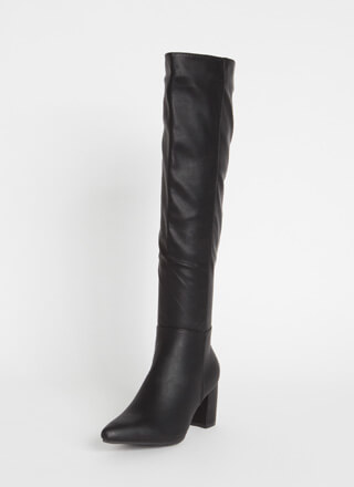 Perfection Chunky Over-The-Knee Boots