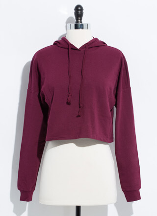 Need Want Have Cropped Hooded Sweatshirt