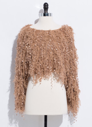 Shake Your Pom-Poms Shaggy Knit Sweater