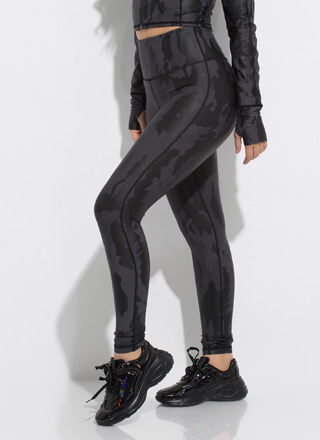 Cool In Camo High-Waisted Leggings