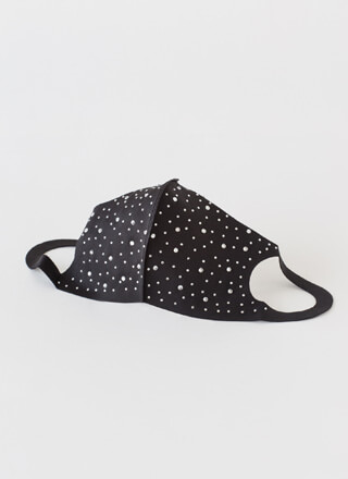Eyes That Sparkle Rhinestone Face Mask