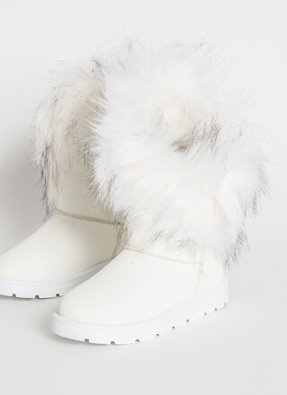 Furry Up Shaggy Trim Faux Nubuck Boots
