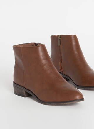 Just Go With It Faux Leather Booties