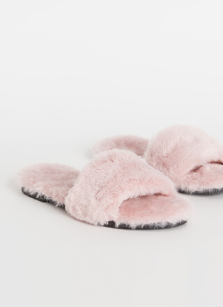 Soft Expression Faux Fur Slide Sandals
