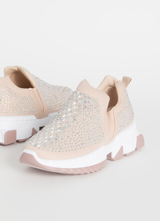 Be Jeweled Slip-On Rhinestone Sneakers