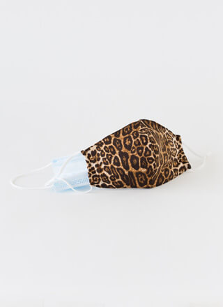 Cat Eyes Pocketed Leopard Face Mask