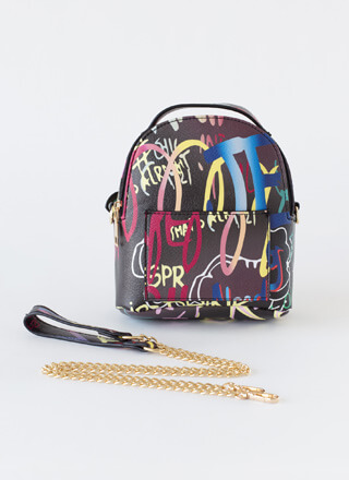 Tag I'm It Mini Graffiti Backpack Purse