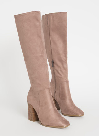 Around The Block Chunky Knee-High Boots