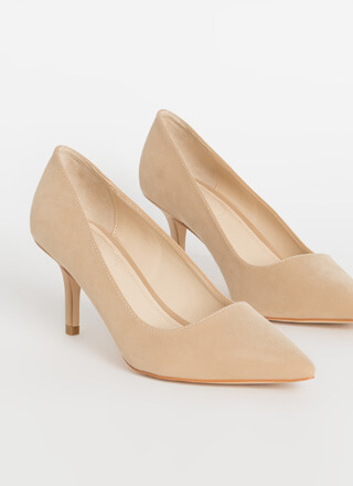 You Make A Good Point Faux Nubuck Pumps
