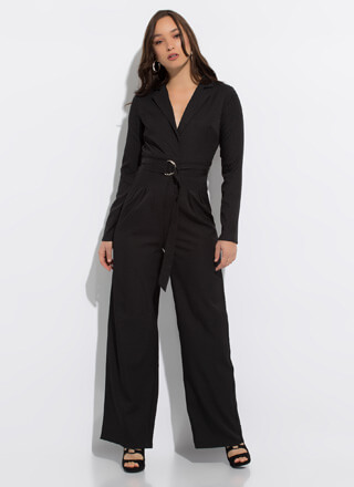 Trail Blazer Belted Wide-Leg Jumpsuit