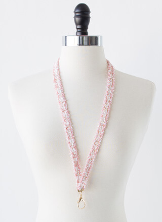 Luxe Upgrade Fuzzy Tweed Lanyard