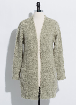 Long For Warmth Fuzzy Knit Cardigan