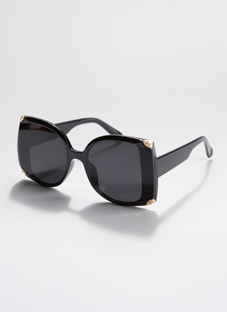 Cut-Off Time Partial Frame Sunglasses