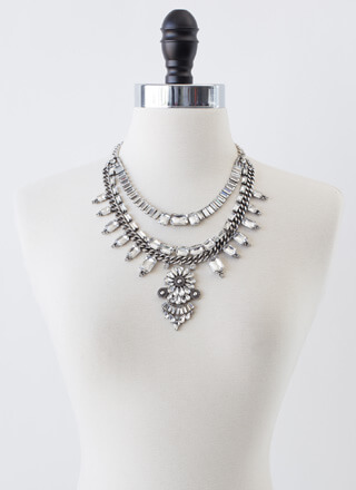 Bold Statement Jeweled Necklace Set