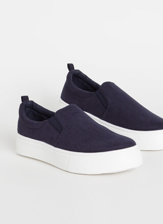 It's Easy Faux Suede Slip-On Sneakers