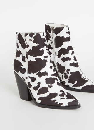 West End Chunky Faux Suede Booties