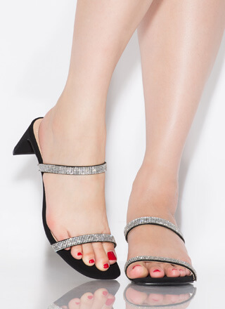 The Low-Down Strappy Jeweled Heels