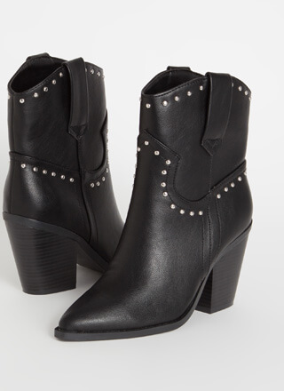 Go Cowgirl Chunky Studded Booties