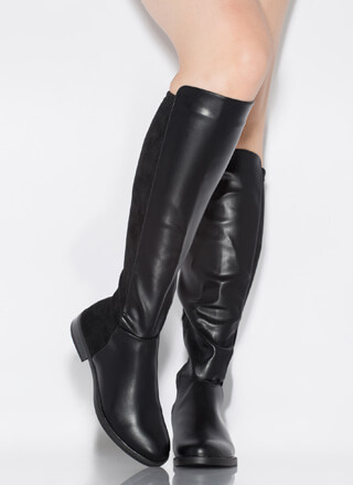 Amaze Me Flat Halved Knee-High Boots