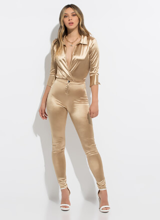 Smooth Like Satin Bodysuit And Pant Set
