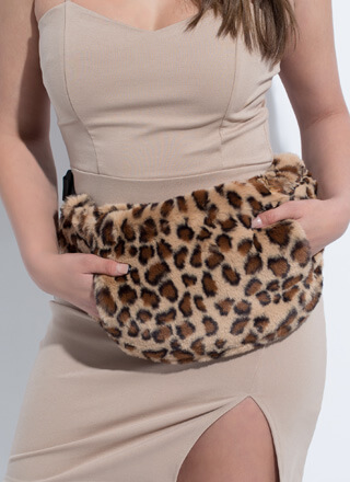 My Fur Baby Leopard Muff Fanny Pack