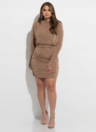 Got You Covered Ruched Back Dress