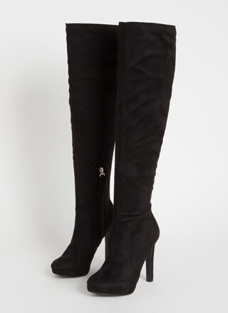 Stand Tall Over-The-Knee Faux Suede Boots