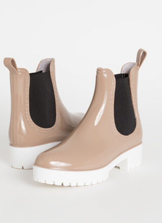 Oh My Galosh Glossy Jelly Booties