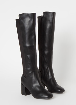 Perfect Faux Leather Over-The-Knee Boots