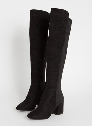 Perfect Faux Suede Over-The-Knee Boots