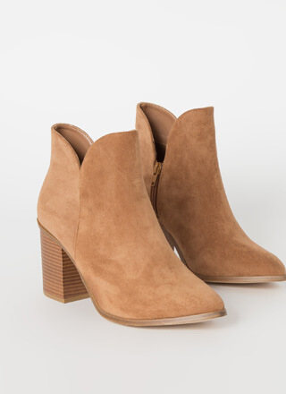 Buy Me Tulips Chunky Faux Suede Booties
