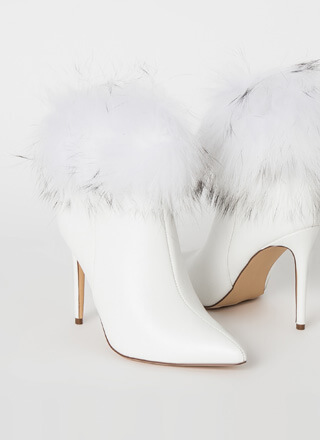 Love Shag Baby Furry Cuffed Booties