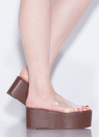 Slide Into My Clear Wedge Sandals