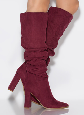 Do Slouch Chunky Knee-High Boots