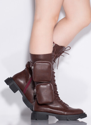 I'll Carry You Pouch Strap Combat Boots