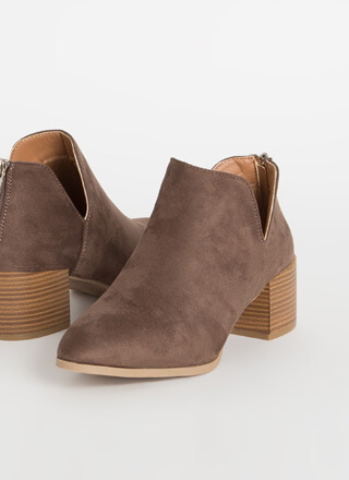 You're Top Notch Block Heel Ankle Boots