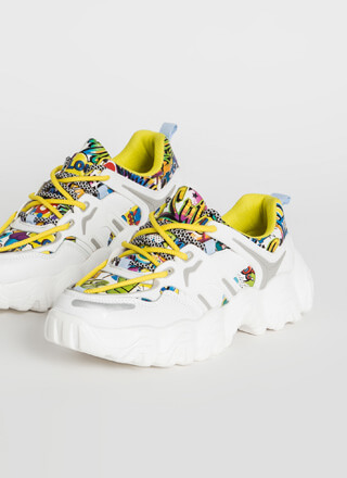 Kicks Double-Laced Graffiti Sneakers