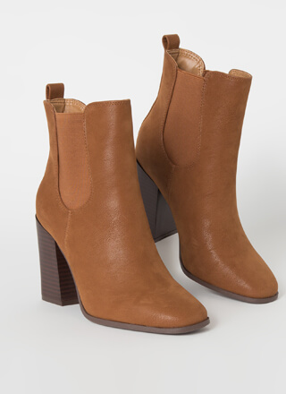 Chelsea Lovely Faux Nubuck Booties