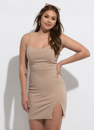 Sometimes Sweetheart Slit Minidress
