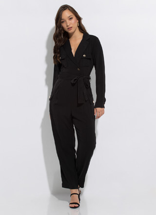 I Know What I Want Tied Cargo Jumpsuit
