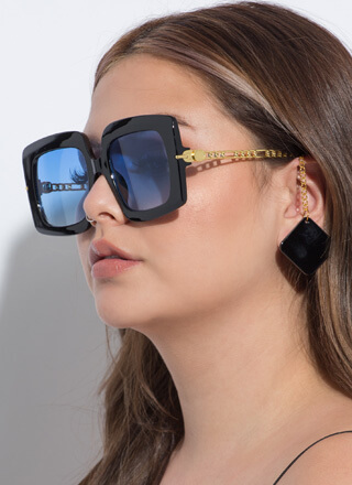 Tile Me A Story Chain Accent Sunglasses