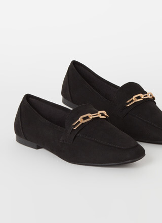 Business Or Pleasure Chain Strap Loafers