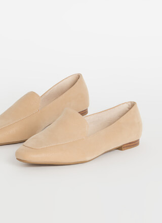Purist Faux Nubuck Smoking Flats