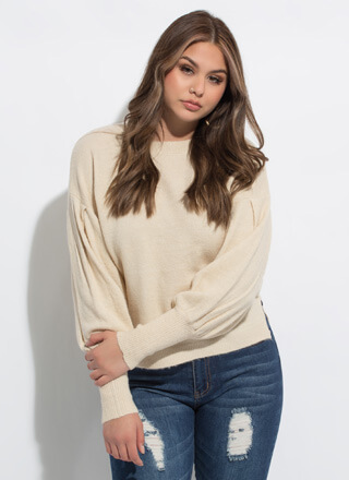 Soft Touch Balloon Sleeve Sweater