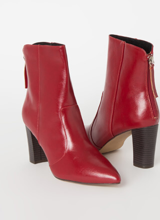 Fashion Expert Chunky Pointy Booties