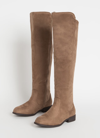 The Expandables Zip-Up Knee-High Boots