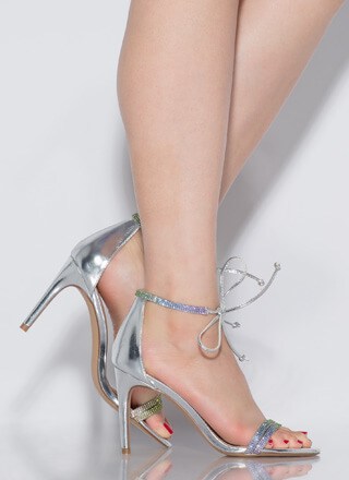 Bling To The Party Tied Jeweled Heels
