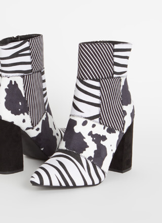 Wild Concept Patchwork Animal Booties