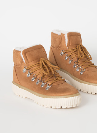 Cool It Faux Shearling High-Top Sneakers